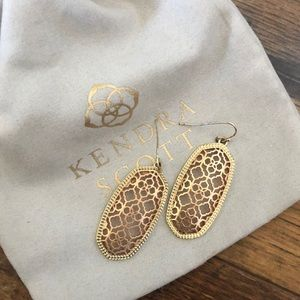 Gold and Rose Gold Filigree Kendra Scott Earrings